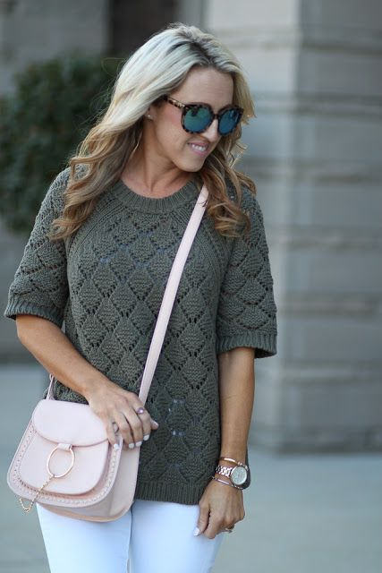 Two Peas in a Blog: Olive Green Sweater for Spring