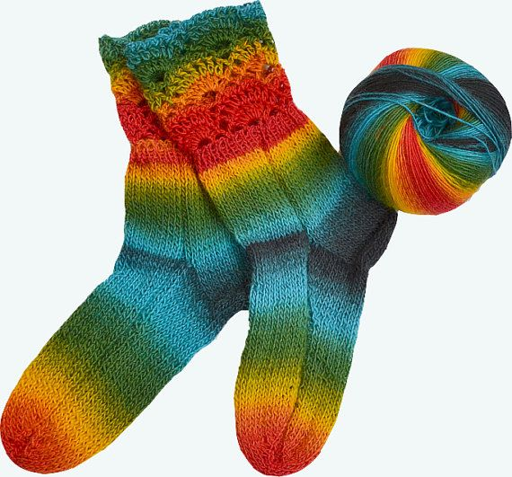 Rainbow  sockswarmunique giftchristmas gift lovely by DosiakStyle #uniquesocs #handmadesocks #warmsocks