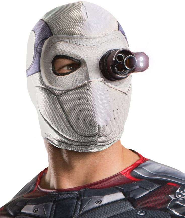 costume mask: squad deadshot mask with light-up eye piece