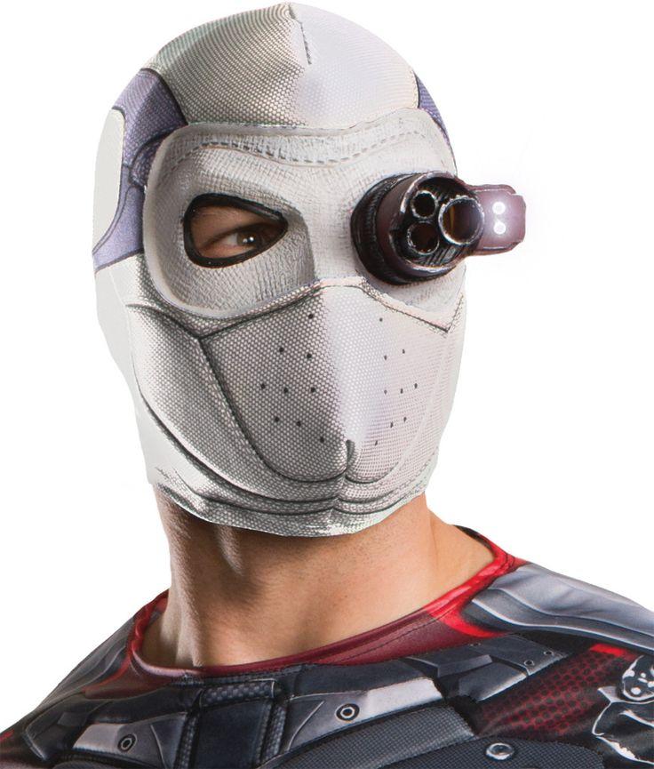 costume mask: squad deadshot mask with light-up eye piece