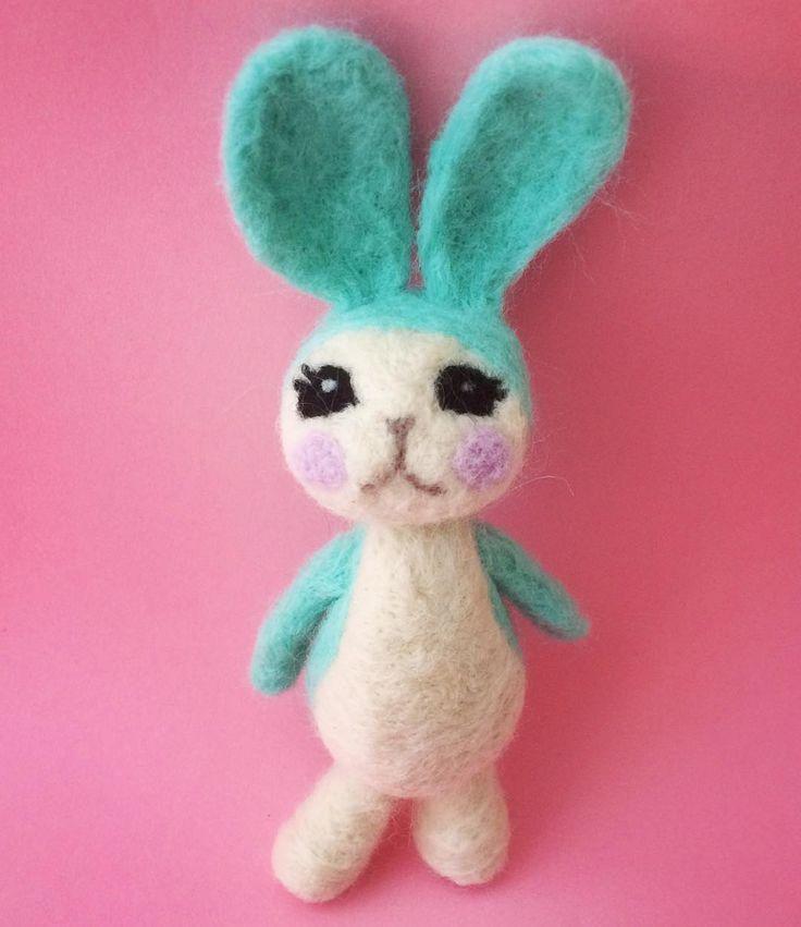 Bitsy Bunny needle felt figure