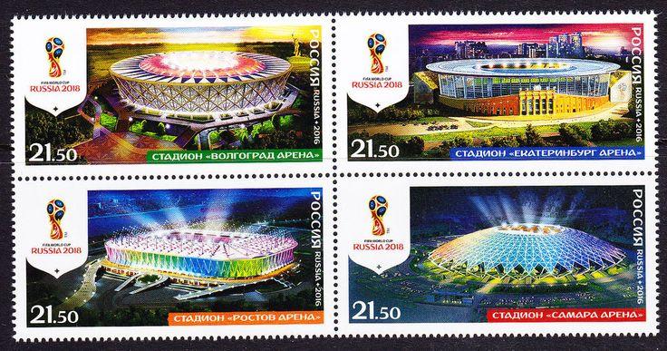 Russia 2016 FIFA Soccer World Cup 2018 Stadiums MNH   | eBay