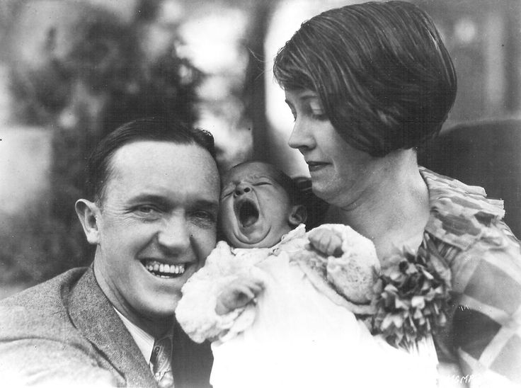 Lois Laurel Stan with wife Lois, and their baby daughter Lois Laurel.