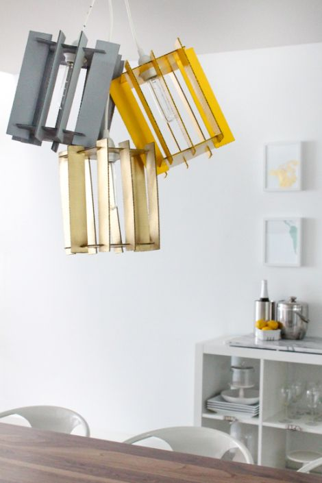 DIY Recycled Cardboard Pendant Lights For Your Living Space