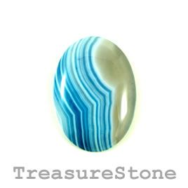 Cabochon, agate (dyed), 25x35mm. Sold individually.