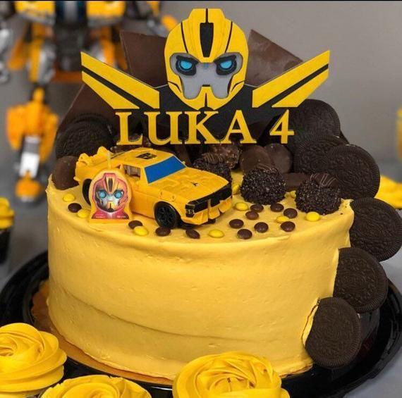 Bumblebee Transformer Custom Cake Topper Taartdecoraties ...