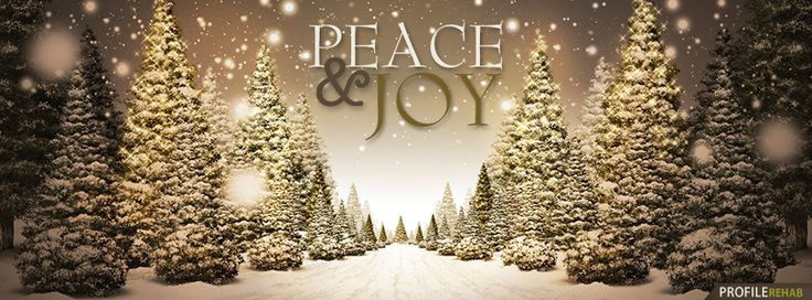 Peace & Joy Christmas Tree Facebook Cover - Facebook Cover Download