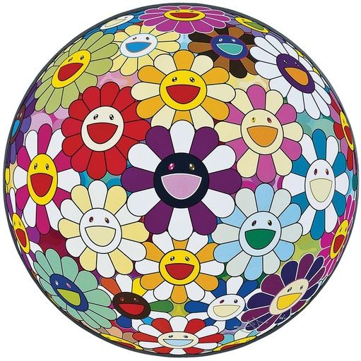 Takashi Murakami, Flower Ball (3D) Sexual Violet No. 1, 2013 on Paddle8