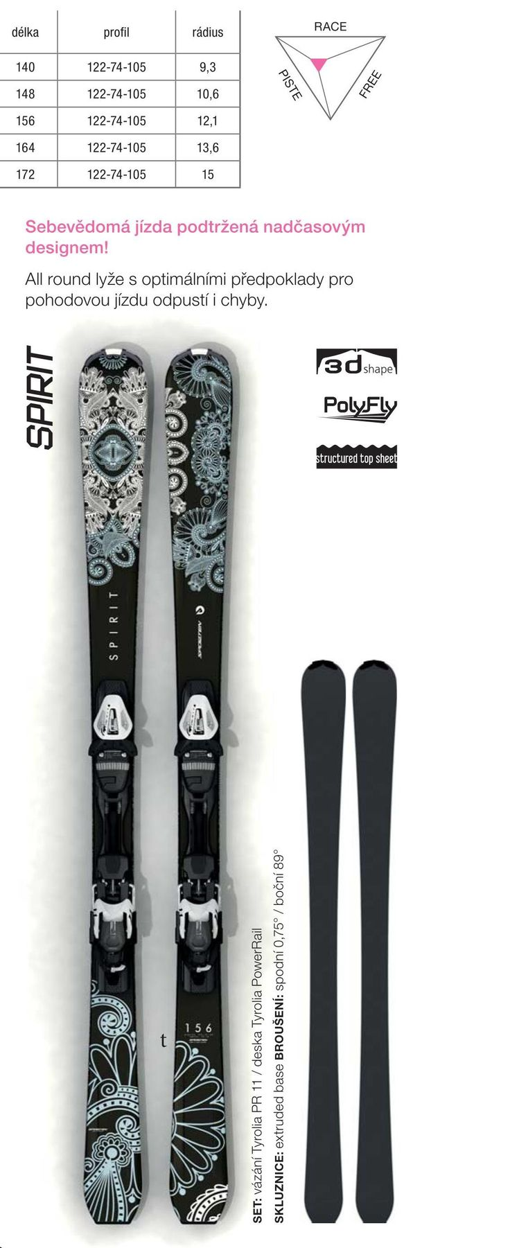 Women design - Sporten Spirit skis 2015/16 collection