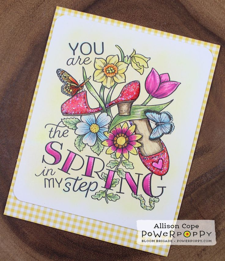 Spring in My Step by Allison Cope featuring the digital stamp from the Va-Va-Valentine's stamp bundle.  Get it now for a special price of 6 images for only $6.00!