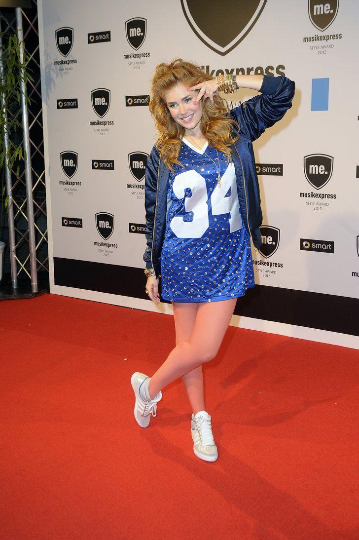 Pin for Later: 48 Fotos, die beweisen was für ein Style-Chameleon Palina Rojinski ist Oktober 2012 bei einem Event in Berlin