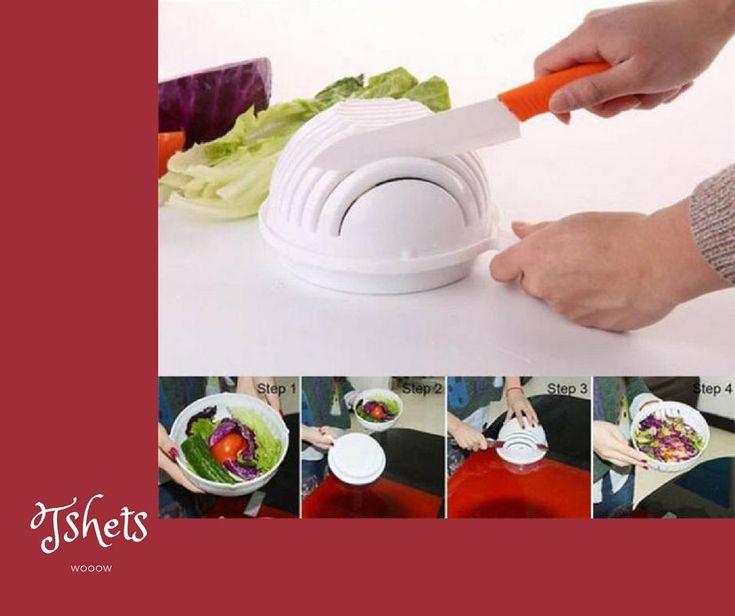 60 Seconds Salad Cutter Bowl ,Wave Shape Easy Salad Maker