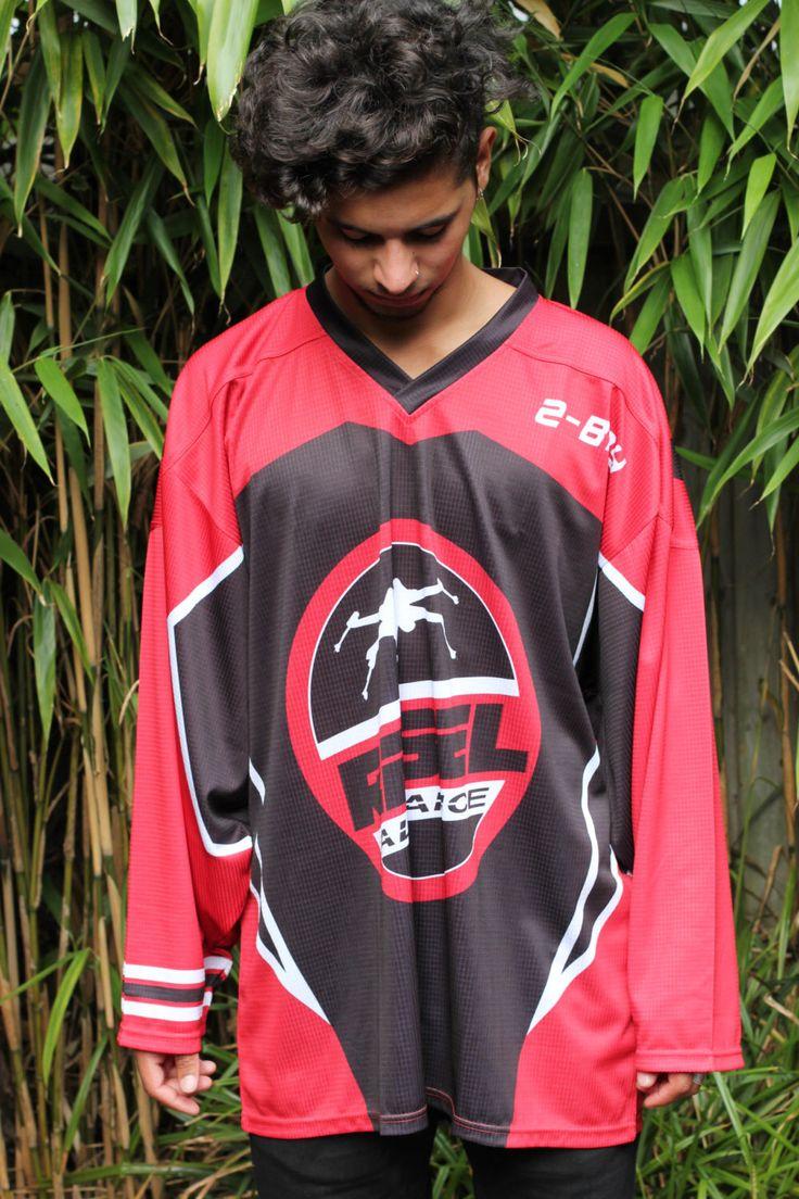 Star Wars 'Rebel Alliance Enforcer' Adults Hockey Jersey by UrbanSpecies on Etsy https://www.etsy.com/listing/243062067/star-wars-rebel-alliance-enforcer-adults