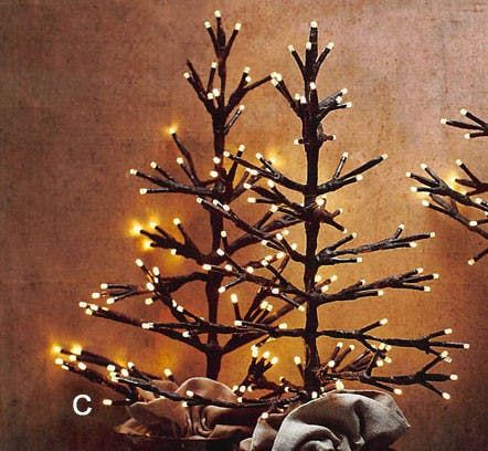 the roost tabletop lighted tree set your tabletop display aglow with out lighted tree made from floral tape wrapped wire each branch emits soft - Low Voltage Christmas Lights