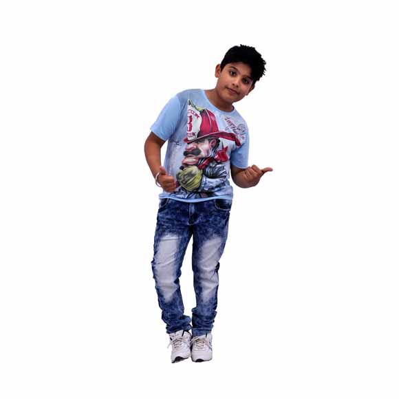 Get the wide range of  kids wear at our online kids wear shopping store. Shop Plus-size light denim blue anti fit jeans online at abductindia.com. We have a wide range of light denim blue anti fit jeans for your heavy size kids.
