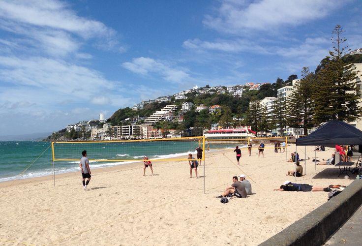 Beach Volleyball at Oriental Bay, Wellington, New Zealand