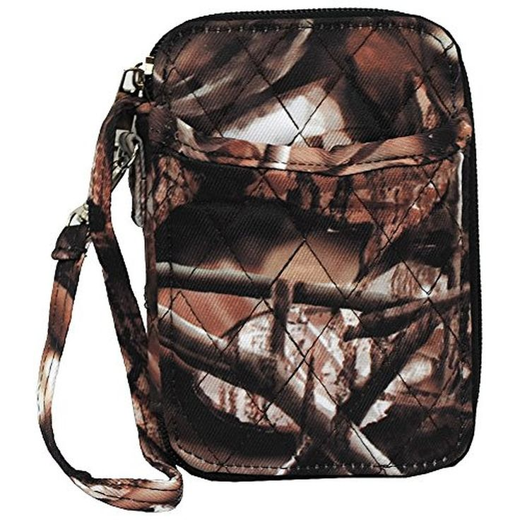 BnB Natural Camo Print Quilted Wristlet Wallet