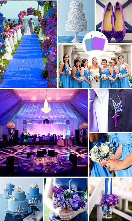 Modern Wedding Color Palettes We Love. Purple Themed WeddingsBlue ...
