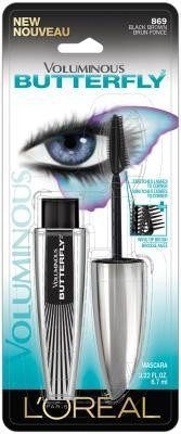 LOREAL VOLUMINOUS BUTTERFLY MASCARA WASHABLE BLACK BROWN