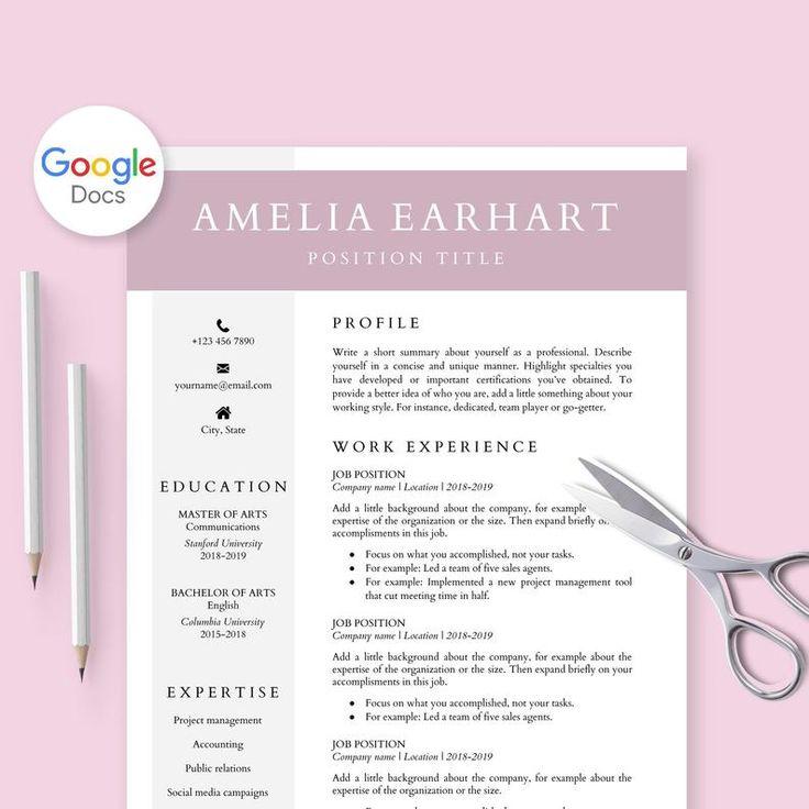 Resume Template for Google Docs Cv Template Google Doc