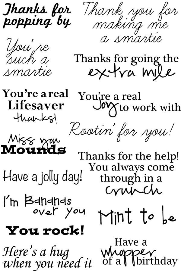 25 best ideas about Thank you card sayings – Thanks Card Words