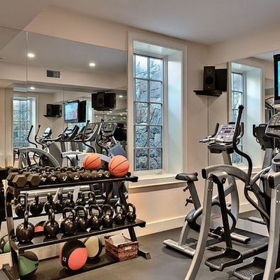 home gym exercise room small design pictures remodel