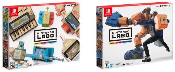 Nintendo Labo  Variety and Robot Kit file sizes