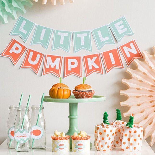 18 Fall-tastic Ideas for a Pumpkin-Themed Baby Shower via Brit + Co