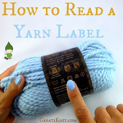 How To Read A Yarn Label...Plus a Free Printable Chart