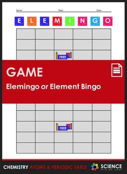 Worksheet elemingo or element bingo game chemistry atoms elemingo is a periodic table take on the classic bingo game elemingo is designed urtaz Gallery