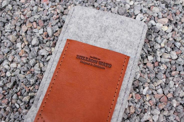 MillionWays - Wool Case (Dolphin Grey) #leather #sweden