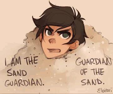 I am the sand guardian Percy Jackson gif
