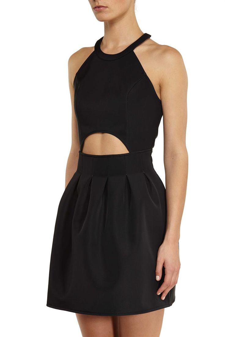 CO hamptons structured dress, BLACK