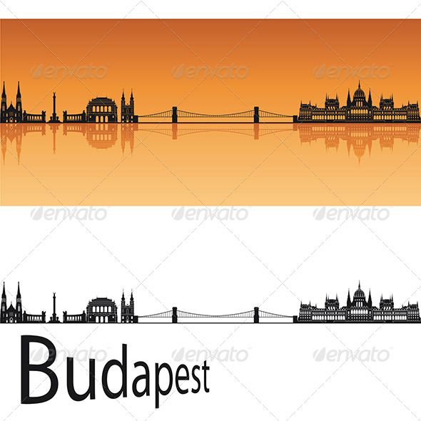 Budapest Skyline #GraphicRiver Budapest skyline in orange background in editable vector file Created: 15May13 GraphicsFilesIncluded: VectorEPS Layered: No MinimumAdobeCSVersion: CS Tags: architecture #backgrounds #black #budapest #building #city #cityscape #destination #downtown #europe #horizon #hungary #illustration #isolated #landmark #landscape #metropolis #orange #outline #panorama #place #reflected #silhouette #skyline #skyscraper #tower #travel #urban #vector #white
