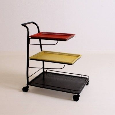 Demon Serving Trolley by Mathieu Mategot for Artimeta