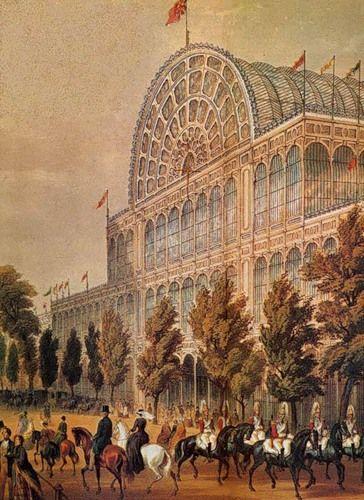 Хрустальный дворец для Всемирной выставки, Пэкстон, главный фасад