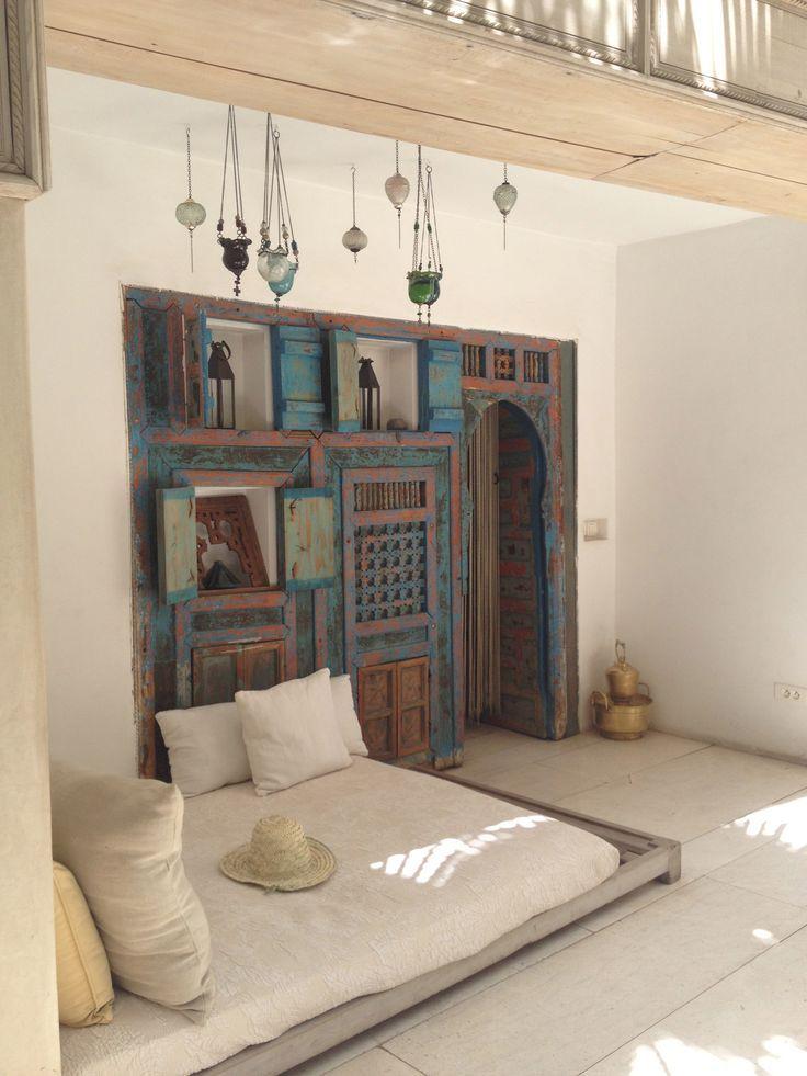 Un relajante zona de Marruecos. Un lugar perfecto para disfrutar de algunos rayos cuando el sol está alto.
