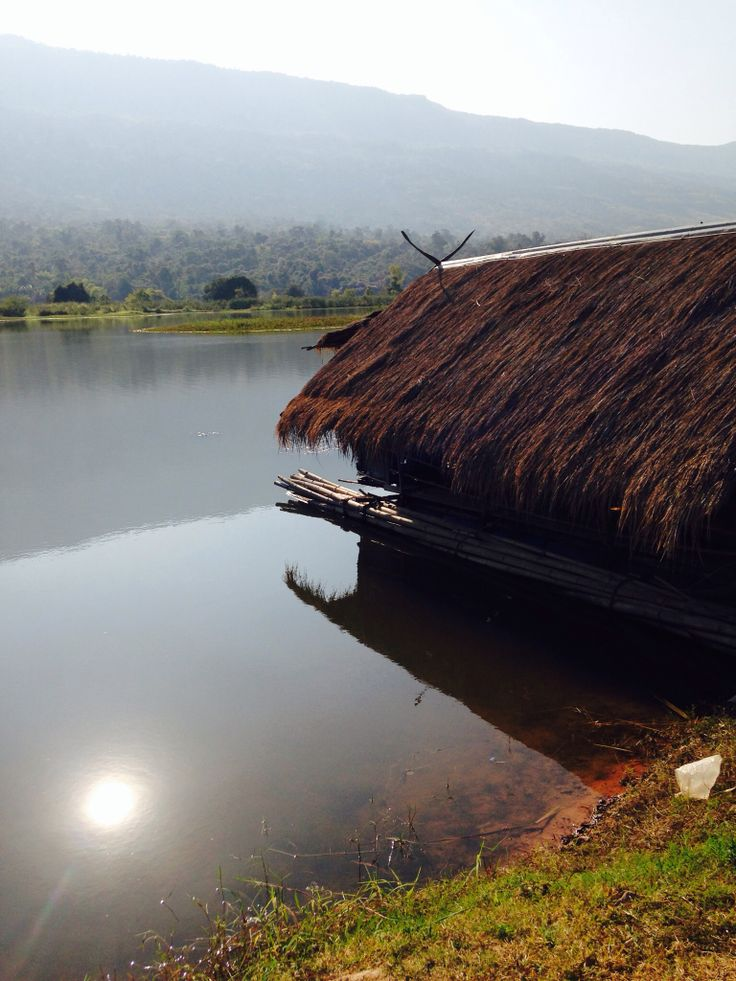 Thai boat in a lake. Taken in Chaiyaphum, Thailand.