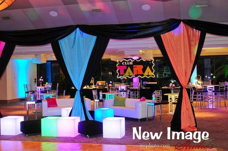 Neon Club Themed Bat Mitzvah Teen Area Party Perfect, Boca ...