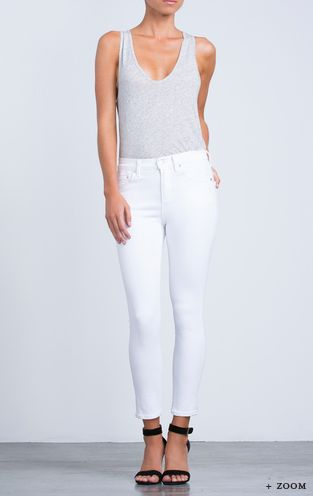 CITIZENS OF HUMANITY ROCKET HIGH WAIST CROP OPTIC WHITE