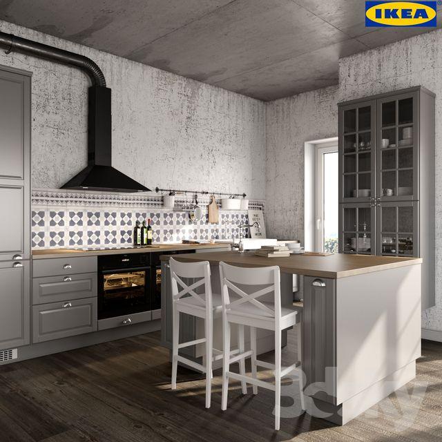 3d models: Kitchen - IKEA BODBYN in 2020 | Ikea bodbyn ...