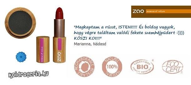 Milyen a ZAO rúzs és a ZAO szemhéjpúder? Marianna véleménye.