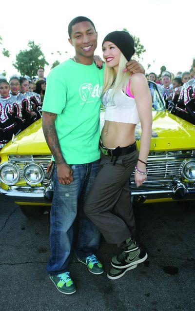 361 best gwen stefani images on pinterest gwen stefani style pharrell gwen stefani on the set of hollaback girl music video sciox Images