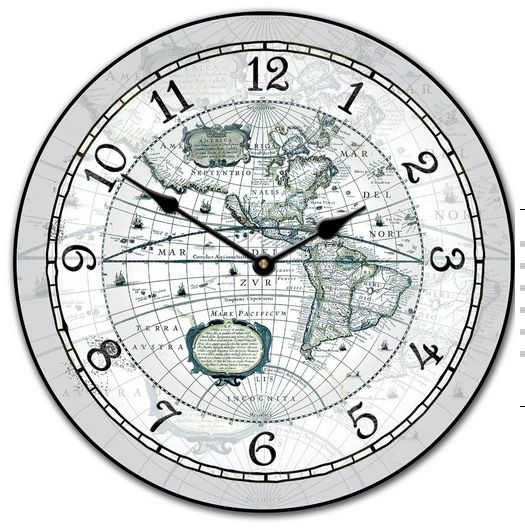27 best world map clocks images on pinterest world maps wall this world map clock would fit in many decor types it is a light gray with some blues and greens come check out our many other map clocks gumiabroncs Gallery