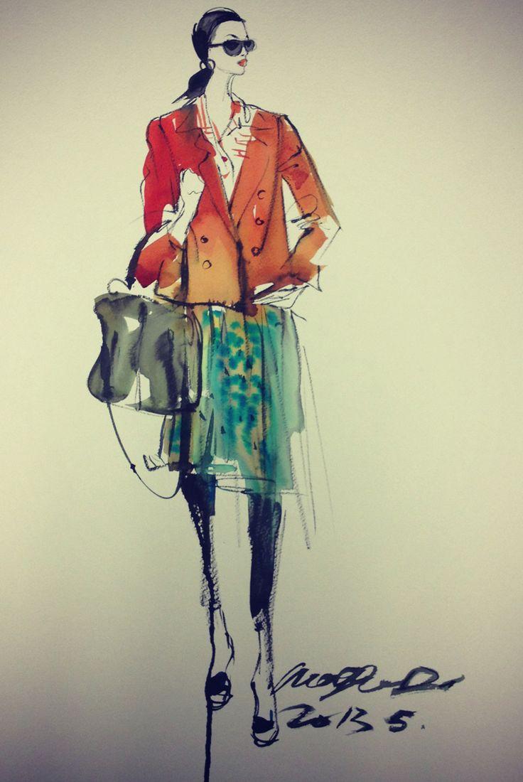 Fashion Illustrator Mengjie Di: Drawings