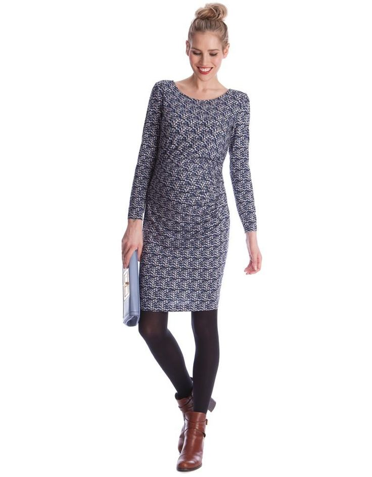 Chevron Print Maternity Dress | Seraphine | Printed Maternity Dresses for pregnancy