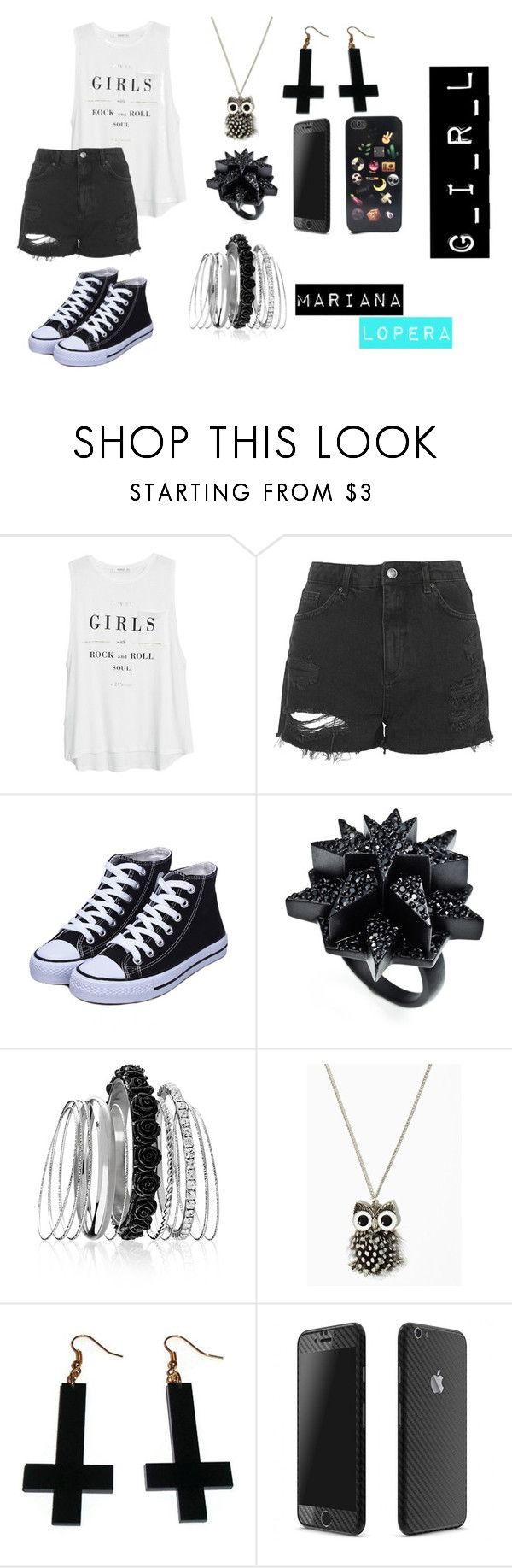 """G_I_R_L"" by mloperamarin on Polyvore featuring moda, MANGO, Topshop, Eddie Borgo, Avenue y Chicnova Fashion"