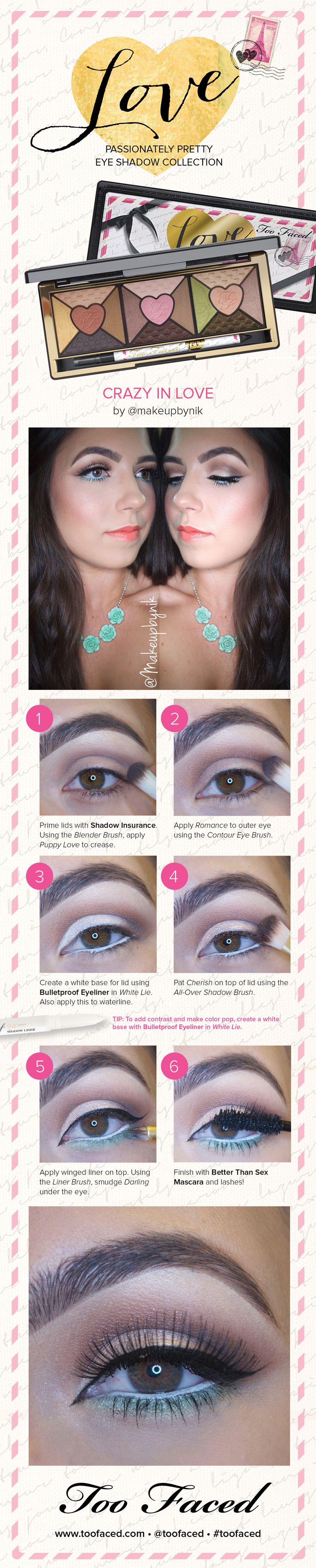 Get this gorgeous eyeshadow look with this how-to tutorial from Too Faced.