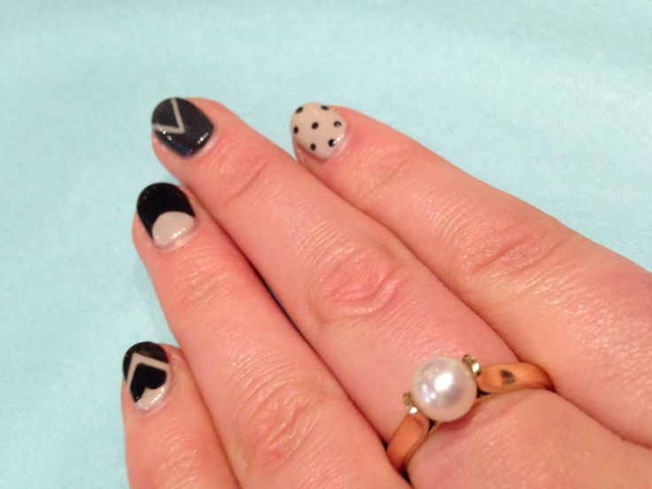 Shellac geo design #kuku nails