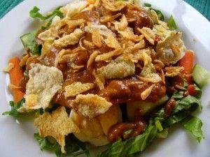 Resep Salad Saus Kacang